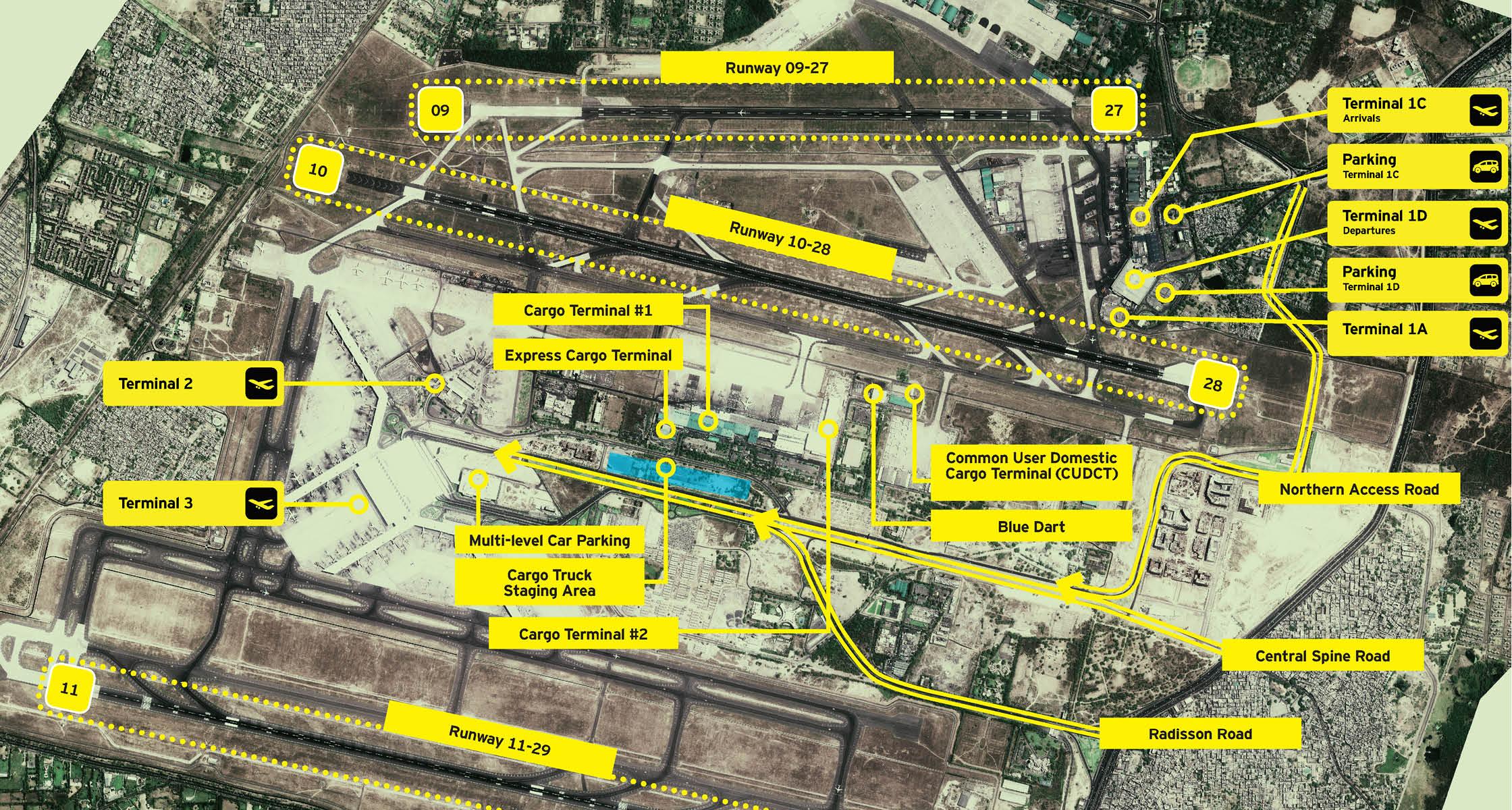 Public spaces Delhi Airport Report Design 13