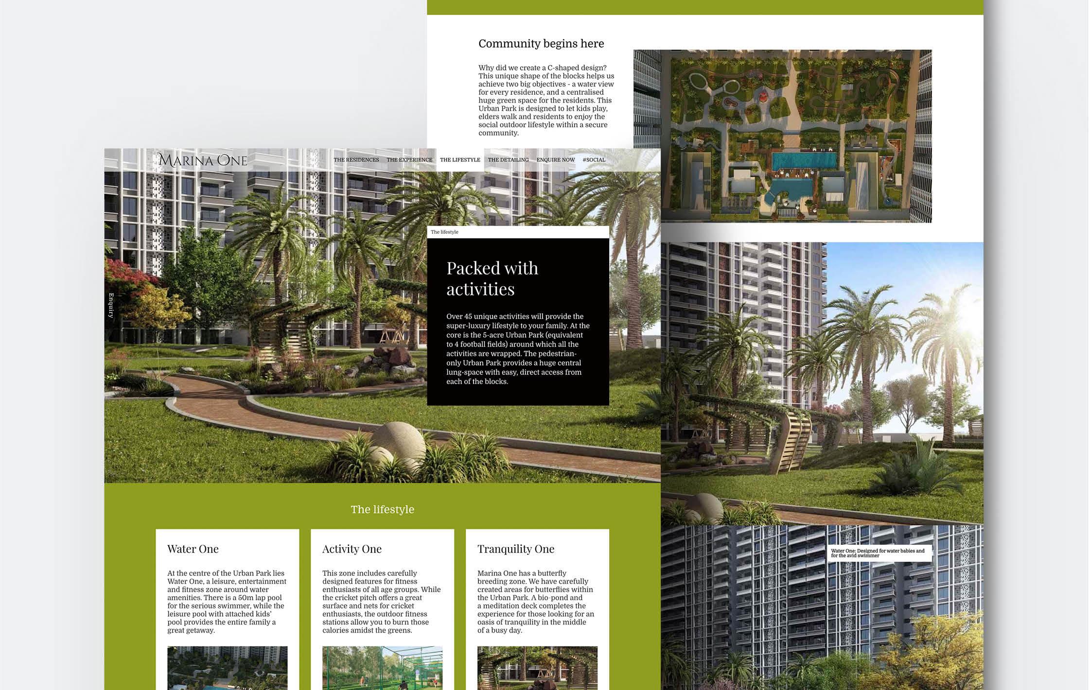 real estate project website