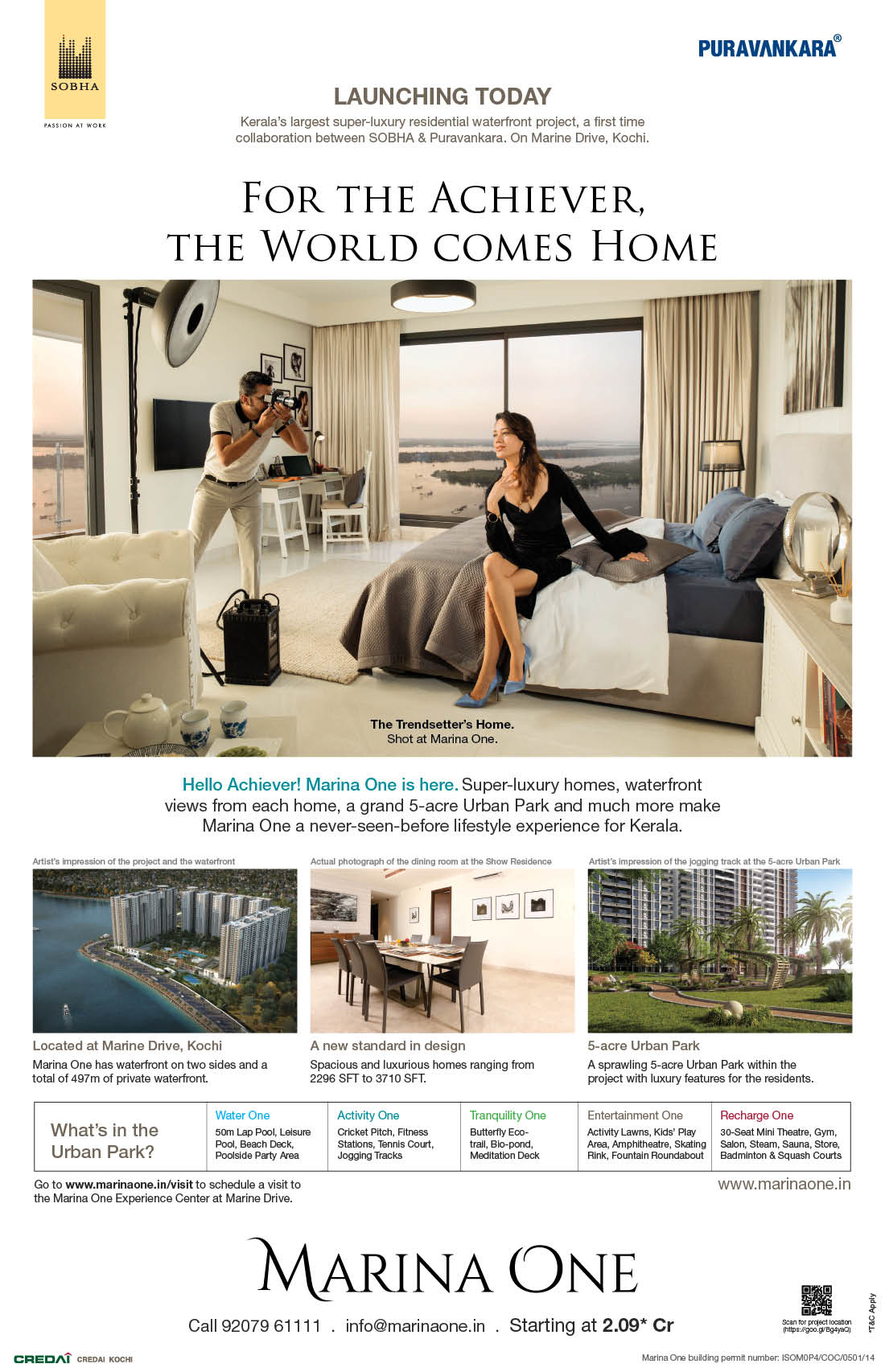 Real Estate Rezonant Design Sobha Marina One Launch Design 08