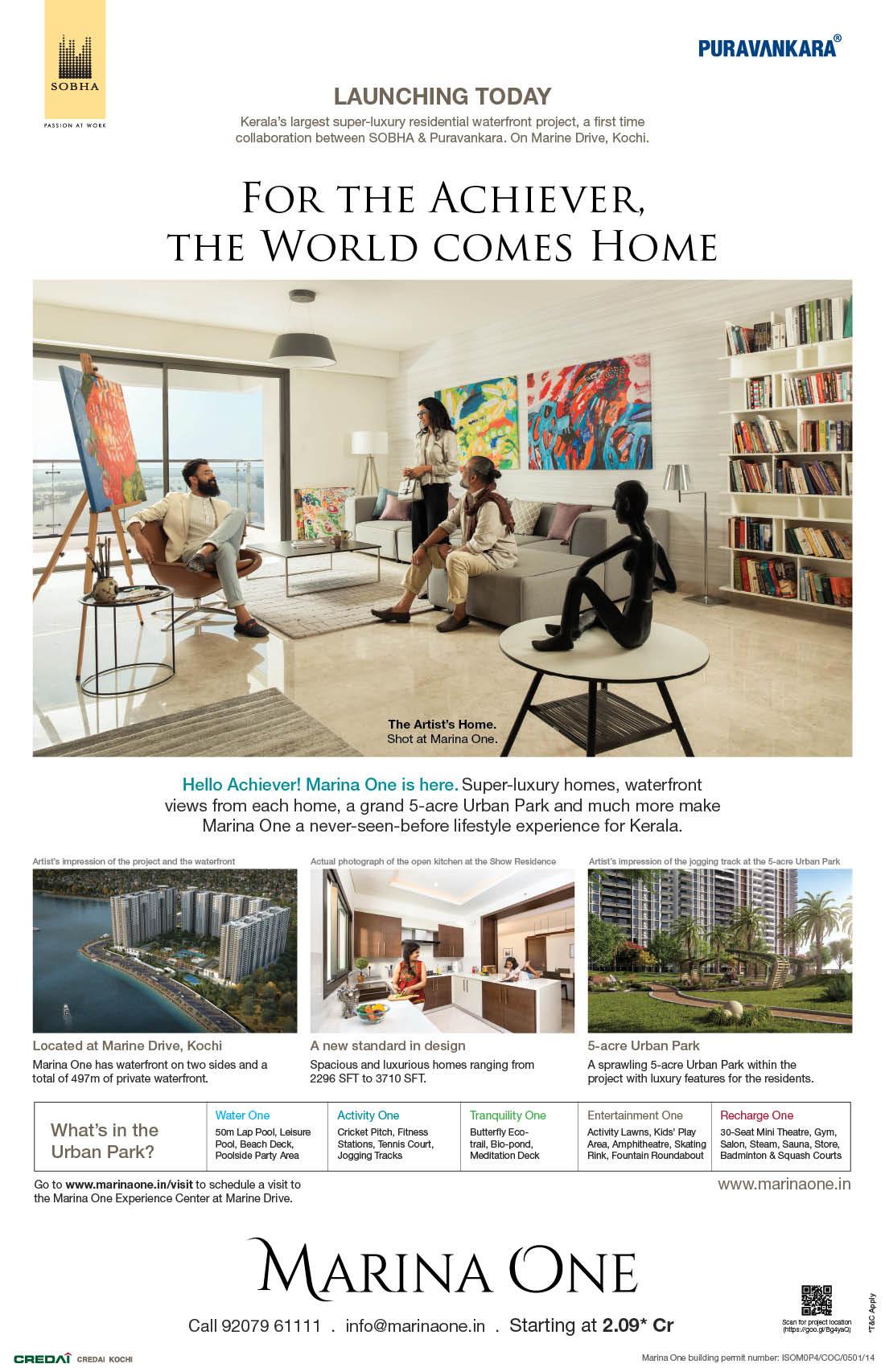 Real Estate Rezonant Design Sobha Marina One Launch Design 09