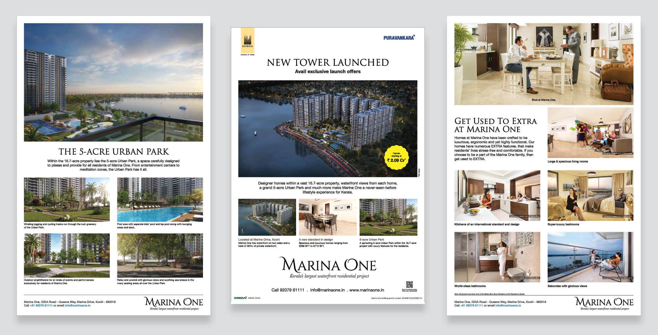 Real Estate Rezonant Design Sobha Marina One Launch Design 11