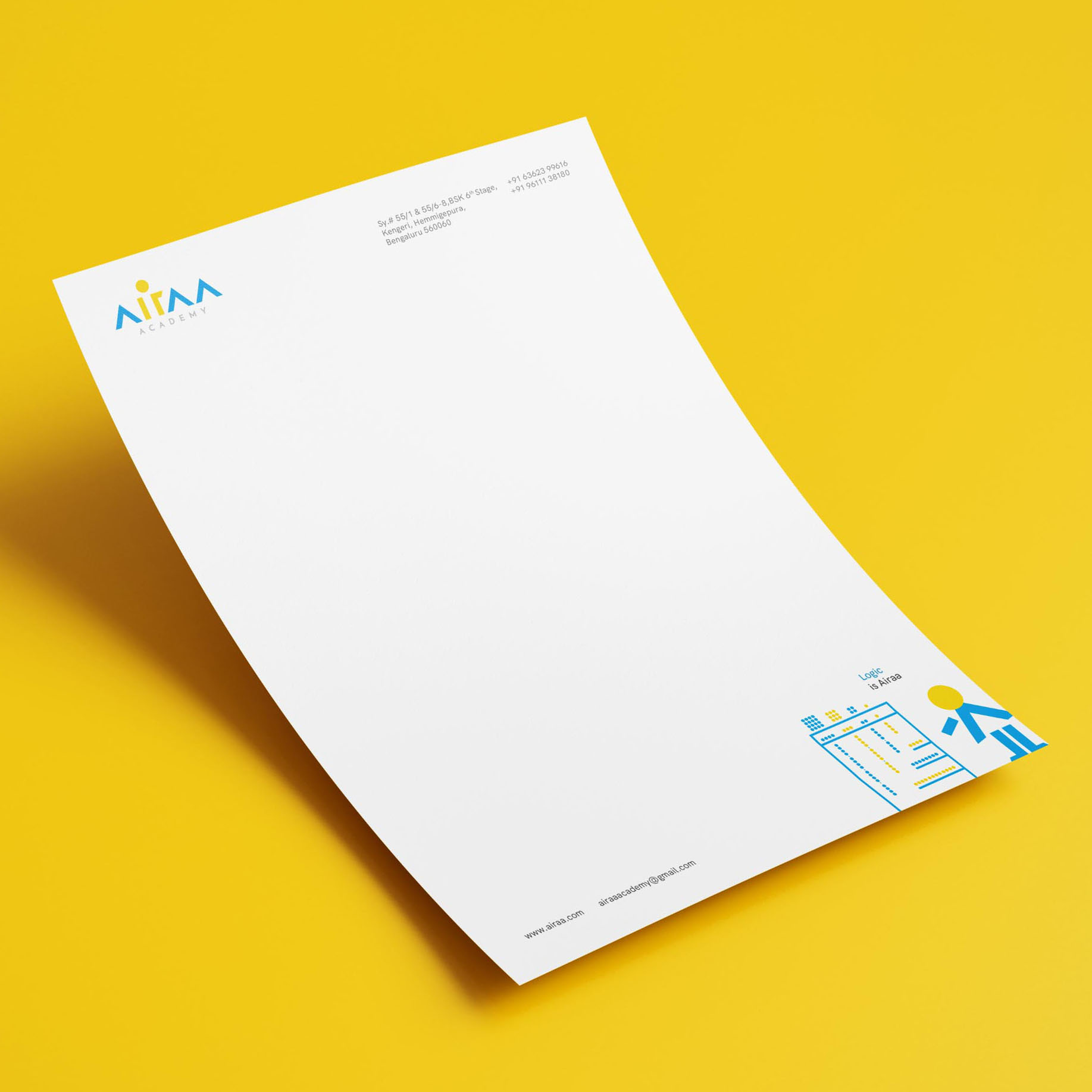 Single US Letter Flyer Mockup 3