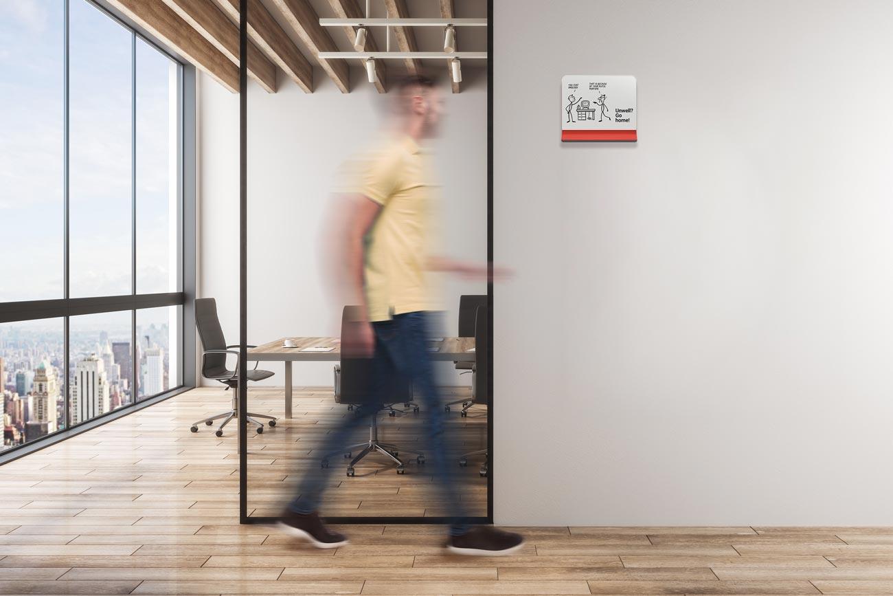 Covid Rezonant Design Peel Signage