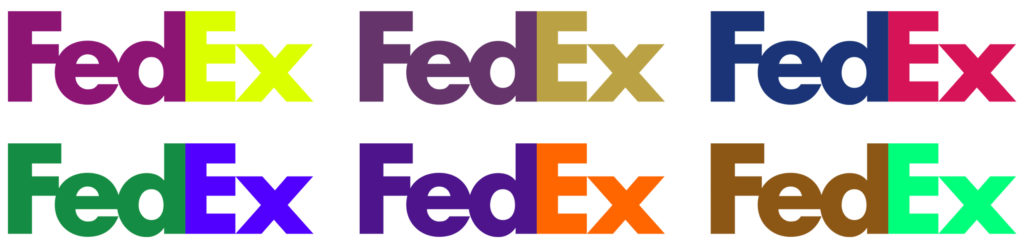 FedEx Colour Comparison