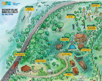 Hospitality Discovery Village Rezonant Custom illustrated maps